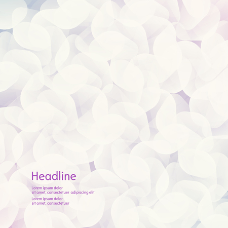 haze: Background of white petals. The effect of haze. Isolated. Vector illustration Illustration