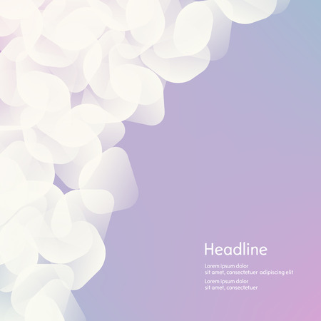 haze: Background of white petals. The effect of haze. Isolated. Vector illustration.