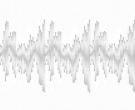 vibrations: Sound wave pattern. Isolated on white background. Vector illustration Illustration