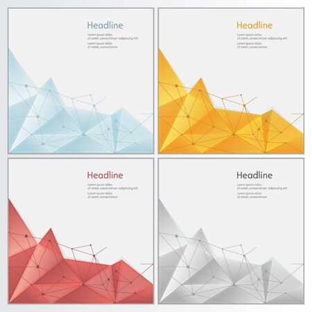 rumpled: orange abstract geometric rumpled triangular low poly style vector illustration graphic background Illustration