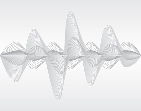 Onda sonora. Illustrazione vettoriale. Isolato. 10 EPS Vettoriali