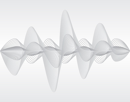 Sound wave. Vector illustration. Isolated. 10 EPS Çizim