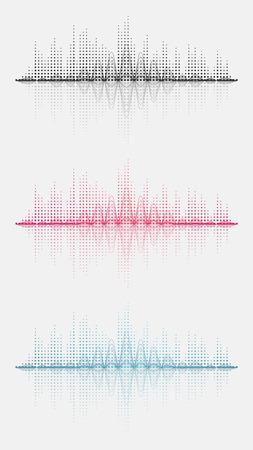Drie geluidsgolf. Vector illustratie. Geïsoleerd. 10 EPS Stockfoto - 51419214