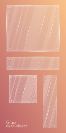 boutique display: Glass over object. Vector illustration. Isolated. 10 eps.