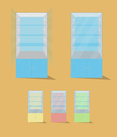 display case: Display case. Vector illustration. Isolated. 10 EPS Illustration