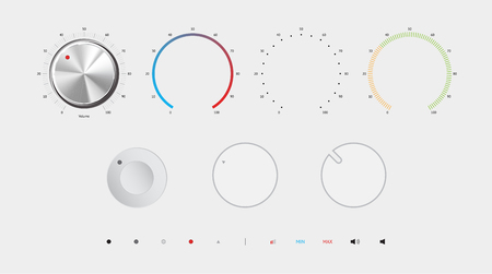 turn dial: Volume button vector illustration. All by layers. Eps 10. Elements for mix button. Illustration