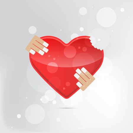 A heart health concept - red heart. Isolated. Vector illustration. Stock Illustratie
