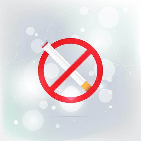 pernicious habit: The sign no smoking. Illustration on white background