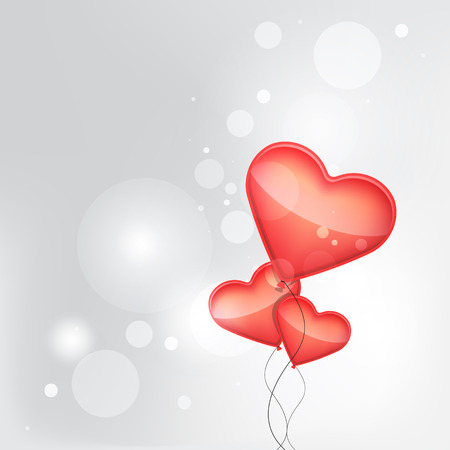 red balloons made of hearts background. Isolated. 10 EPS