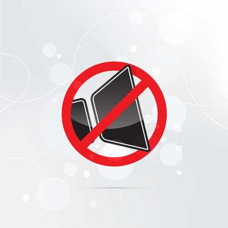 3D black sound icon on grey background .