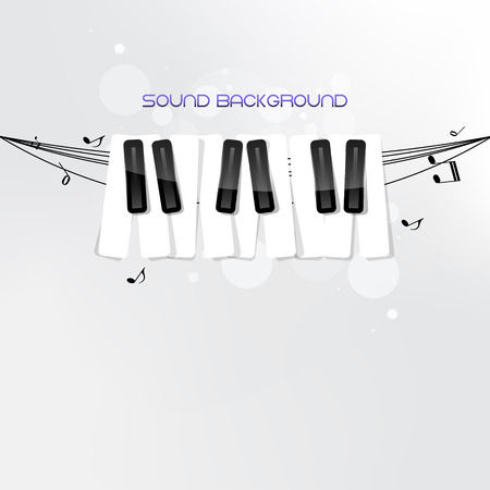Piano keyboard concept on grey background. 10 EPS. Isolated.