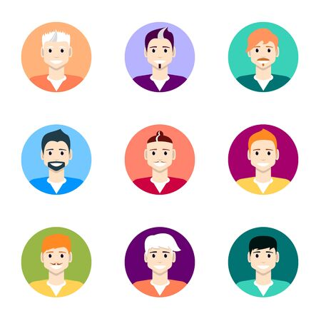 People icons. People Flat icons collection. 10 EPS. Isolated