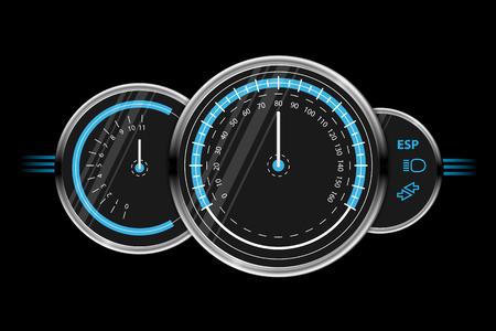 Vector speedometer design Stock Illustratie