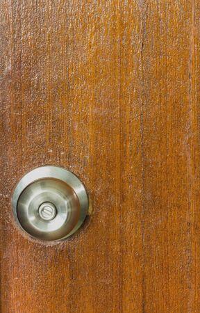 door knobs: door knobs on a wooden door