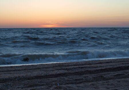 azov sea: Dawn on the Azov Sea Stock Photo