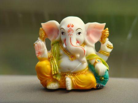 ganesh: Ganesha - De Hindoe God Stockfoto