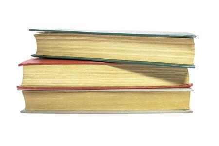Old books isolated on white background Stock Photo - 17775455