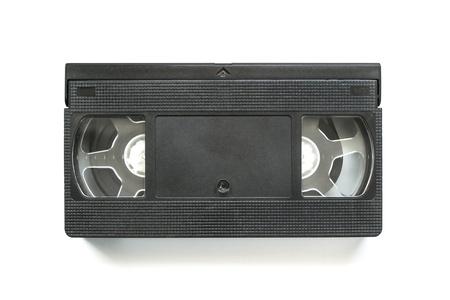 videocassette: Videocassette aislado sobre fondo blanco