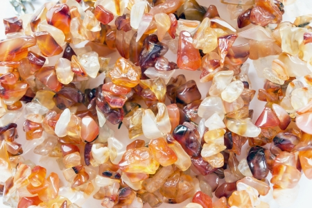 carnelian: Pieces of natural carnelian closeup as a background Stock Photo