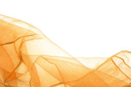 Giallo Tende caprone trasparente su bianco come sfondo Archivio Fotografico - 25097029