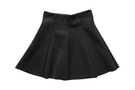Black flared mini skirt on white background Stock Photo - 26702170