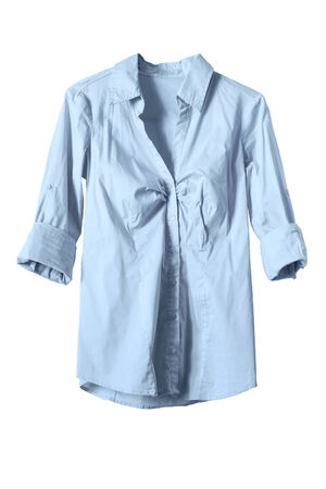 formal dressing: Classic blue blouse on white background