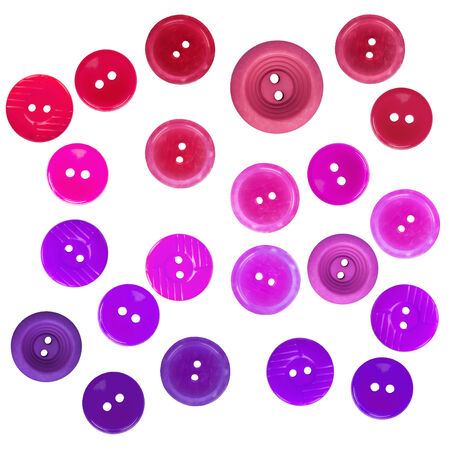 Group of  buttons purple shades on white background photo