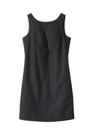 Classic little black dress on white background