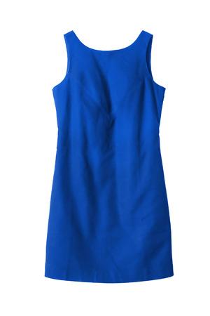 Elegante Vestido Azul Sobre Fondo Blanco Fotos Retratos