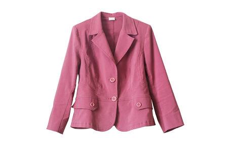 白で分離されたケリ ピンク コットン ジャケット 写真素材