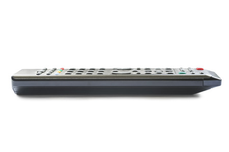 TV remote control on white background photo