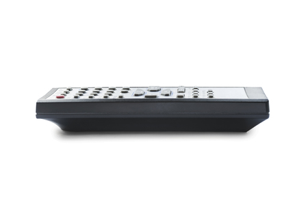 Small TV remote control on white background photo