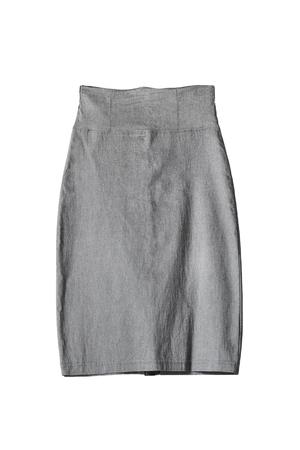 pencil skirt: Formal gray pencil skirt on white background