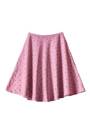 ピンクの観賞用フレア スカート ホワイト バック グラウンドで 写真素材