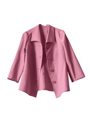 白で分離されたヴィンテージのピンクのジャケット