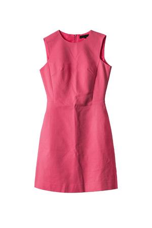 Forme el vestido apropiado cóctel coral aislado más de blanco