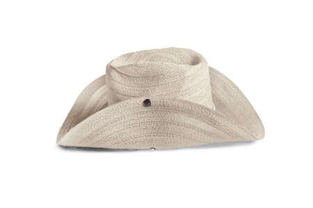 stetson: Beige stetson hat isolated over white Stock Photo
