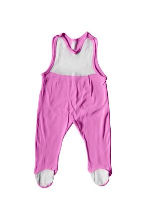 girlish: Bright pink girlish bodysuit isolated over white