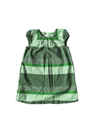 sundress: Green baby sundress isolated over white