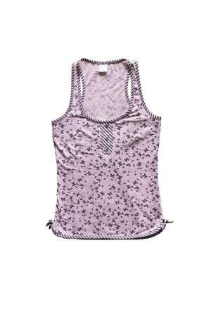 tank top: Pink tank top isolated over white