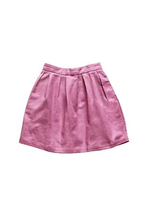 girlish: Pink girlish beautiful skirt on white background