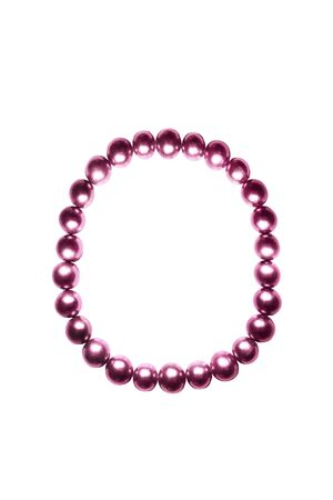 pink pearl: Pink pearl bracelet on white background