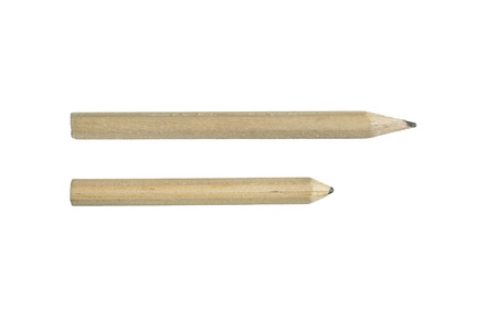 Two wooden pensils isolated over white photo