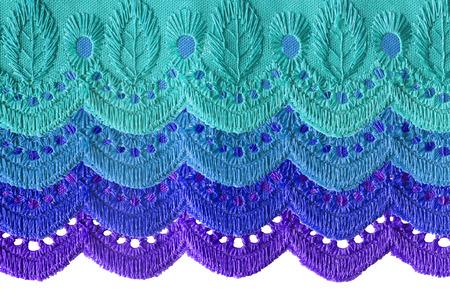 multilayer: Bordado cortina multicapa de encaje como un fondo