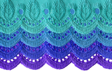 multilayer: Embroidered lacy multilayer curtain as a background
