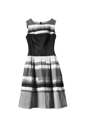 sundress: Black and white striped sundress isolated over white