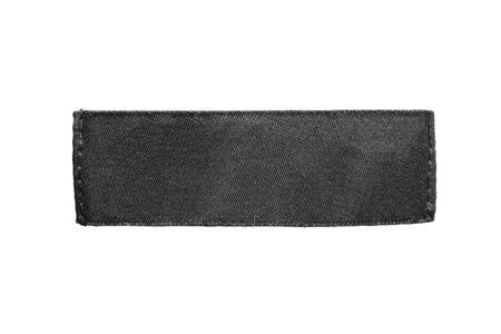 Blank black label on white background photo