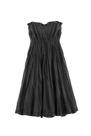 draped: Black draped empire dress isolated over white Stock Photo