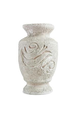 antique vase: Antique ceramic vase on white background Stock Photo
