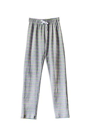 striped pajamas: Striped pajama pants isolated over white Stock Photo